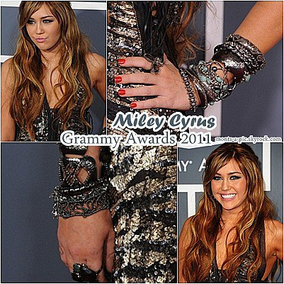 13.Fév.11:Miley aux Grammy Awards 2011
