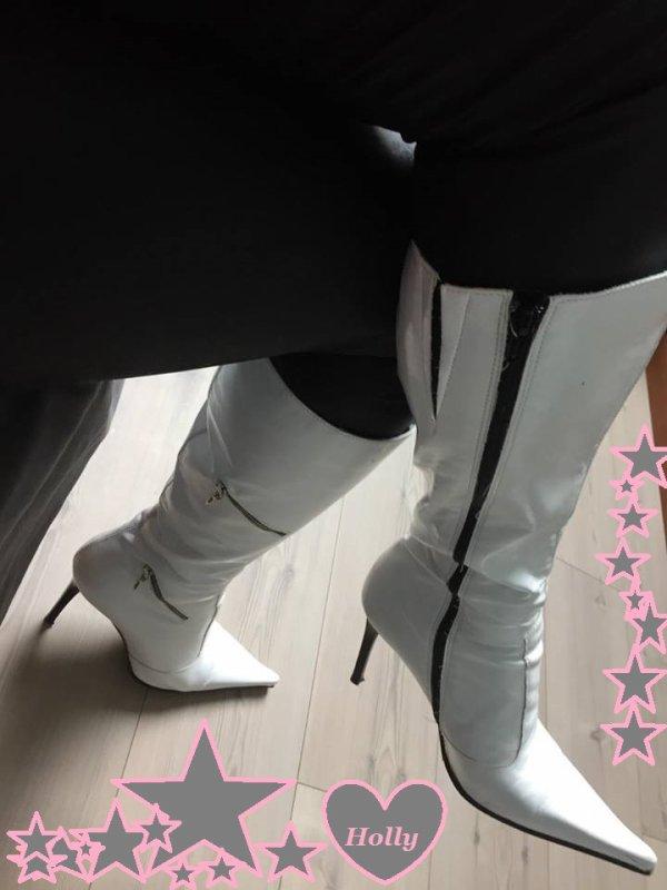 Mes nouvelles bottes Blanches