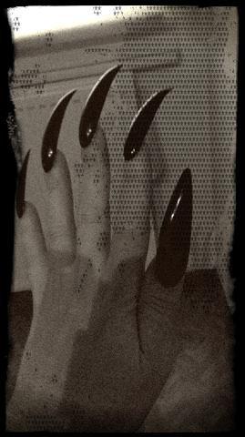 Mes faux ongles Miaouuuuu