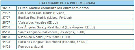 Calendrier 2012 - 2013 Real Madrid