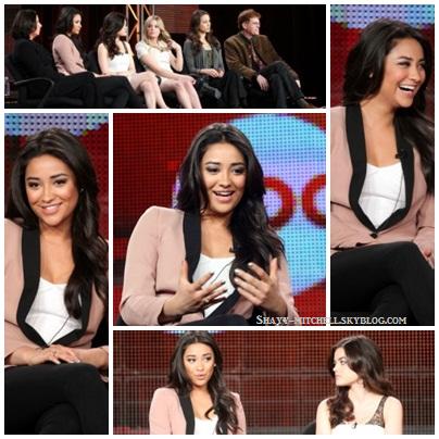 Shay et ses co-stars étaient à une conférence de Presse.