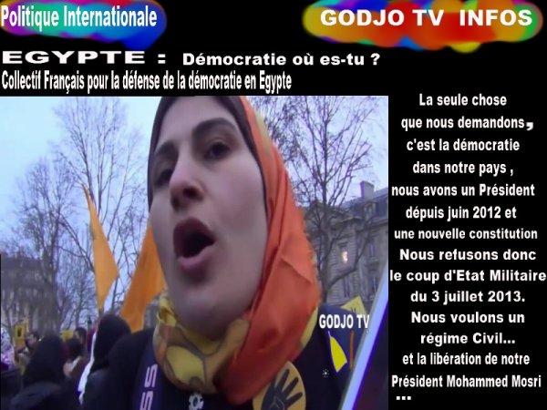 TRANSMISSION / EGYPTE : DEMOCRATIE Où ES-TU ?