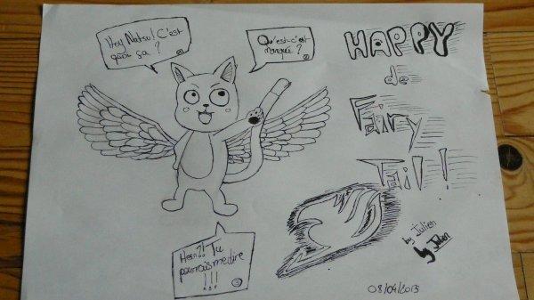 Le vrai Happy de Fairy Tail cette fois-ci !!! :)