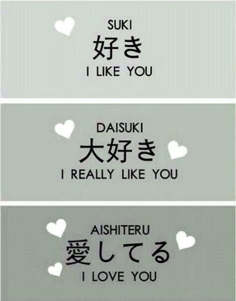 """Différentes façons de dire """"je t'aime"""" *^*"""
