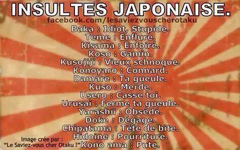 Les insultes en Japonais
