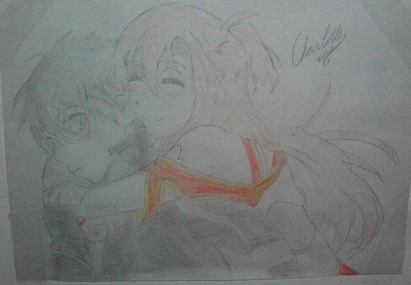 Eren de SnK et Kirito&Asuna de SAO