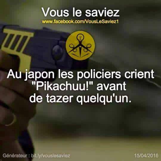Au Japon : La police