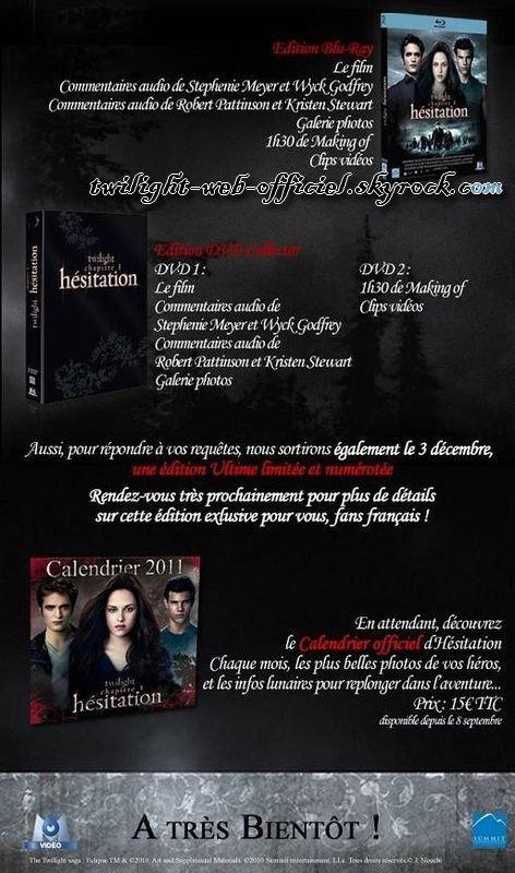 •Contenu de l'édition ultime française d'Eclipse