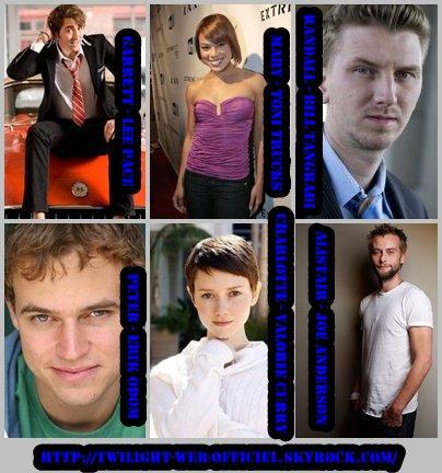 •Annonces du casting de tous les nomades de Breaking Dawn