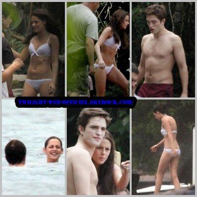 •Rob et Kris en bikini au Brésil