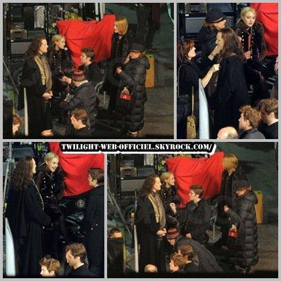 Breaking Dawn : les Volturi sont en plein tournage