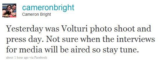 Photoshoot confirmé pour les Volturi et le clan amazonien  et ashley