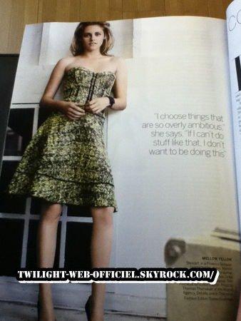 kristen dans le magazine voge du moi de fevriller 2011