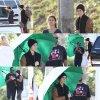 """12mars: Comme vous le savez Justin à rejoint Selena en Floride et il lui a rendu visite sur le set de """"Spring breakers"""". + Selala tournant des scènes pour ce film. + Photo Instagram. Top/Flop?"""