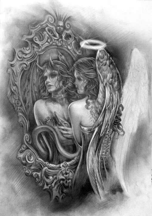 mi ange mi démon  jolie dessin j adore