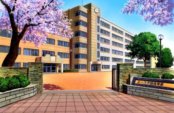 Le lycée vu de l'extérieur