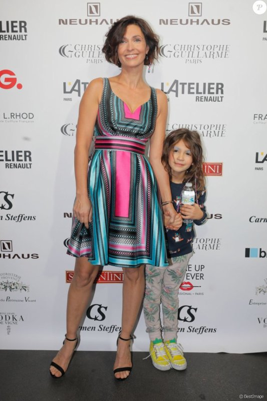 Adeline blondieau et sa fille
