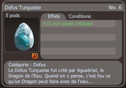 Turquoise +15 drop après 6 combats =D