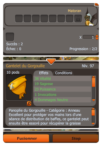 Optimisation goultarminator et craft des panoplies team xp guilde