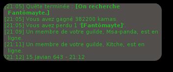 Tricheur, UP's Guilde, Fantômayte, up 195 iop et des ventes
