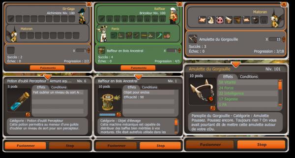 Achats d'enclos, bûcheron 80, craft et bug
