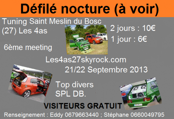 Meeting Tuning St Meslin du Bosc 2013 part.2