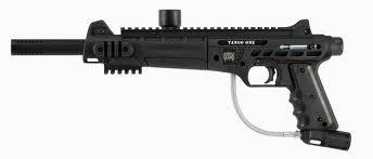 voici mes gun pour le paintball un bt comba et un tango one