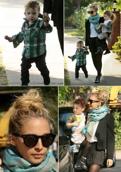 Nicole, Harlow et Sparrow apperçus allant à une fête d'enfants |   08 mai