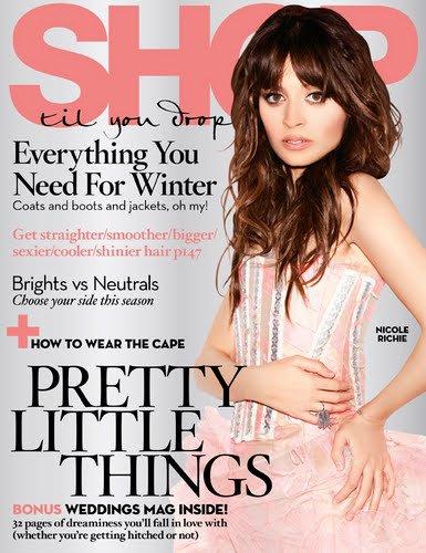 Nicole en couverture de deux magasines l'un japonais l'autre américain