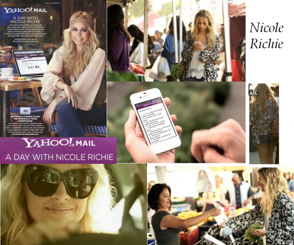 Yahoo ! A day with Nicole Richie