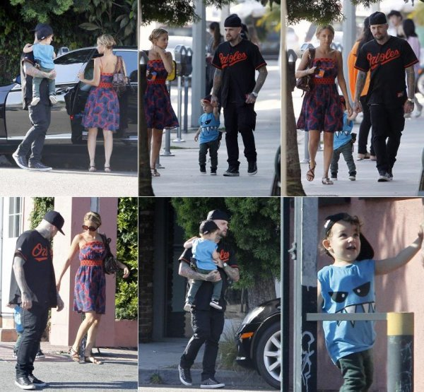 Nicole, son mari Joel, Benji, Harlow et le petit Sparrow se sont rendus dans un magasin de jouets  |   27 juin