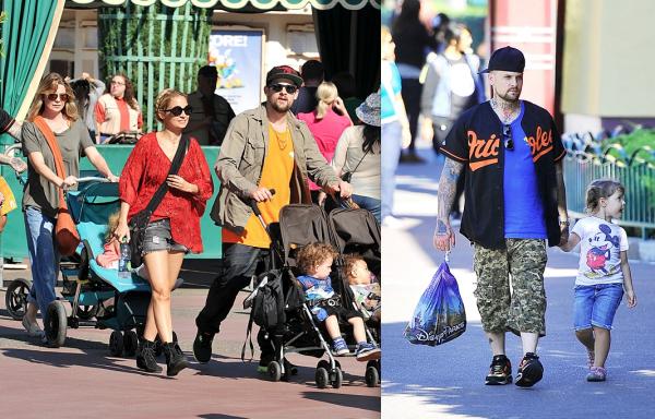 La famille Madden au complet (Benji et Clem étaient aussi là) à Disneyland avec leur amie Ellen Pompeo et sa fille Stella  |   11 septembre