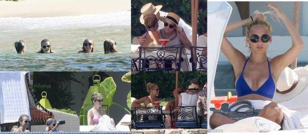 Nicole avec son amie Samantha Ronson, au bord de la piscine dans la villa qu'elle a loué à Cabo San Lucas (Mexique)   |   23 septembre