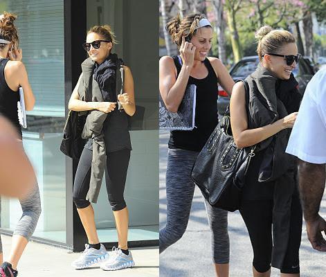 Nicole quitte son cours de gym à Studio City  |   20 octobre