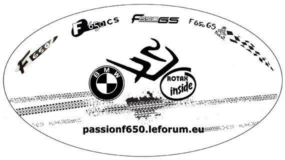 Le futur autocollant des membres du forum F650 ?