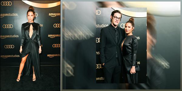 07.01.18 ─ Ashley Tisdale était présente lors de « Golden Globes » organisé par Amazon Studios à Beverly Hills !C'est en compagnie de son mari, Christopher French, que Ashley était présente en cette première sortie de l'année. Très peu de photo malheureusement.