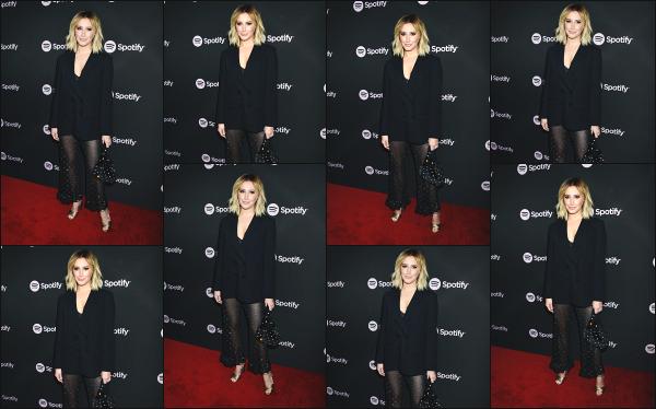 07.02.19 ─ Notre sublime Ashley Tisdale French était à la soirée Spotify « Best New Artist 2019 », à Los Angeles.Une tenue toute noire pour notre Tisdale, qui a toujours une prestance magnifique lors des events comme ceux-là. J'adore et je donne donc un bon top !