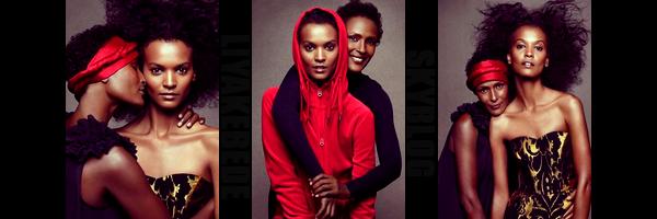 Liya et Waris pour la nouvelle campagne de H&M, si vous habitez dans les grandes villes vous avez surement du voir l'une de ces affiches. Liya  à choisi son amie et ex mannequin Waris Dirie pour être à ces cotés, on dirait mère et fille, magnifique!