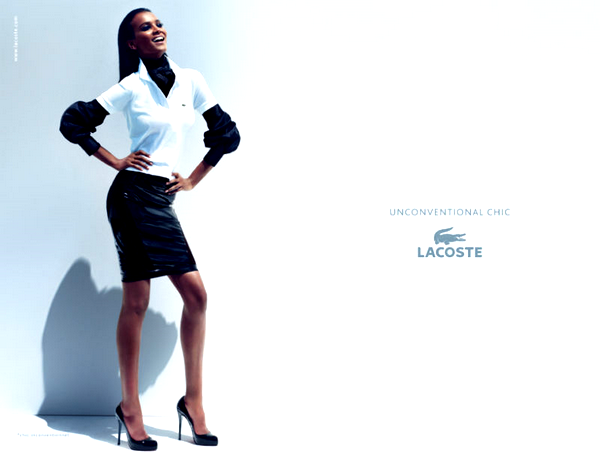 Liya pour Lacoste Spring 2011 Collection Ad campaign