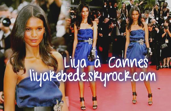 """Liya à la projection des """"Biens Aimés"""" à Cannes, dimanche dernier"""