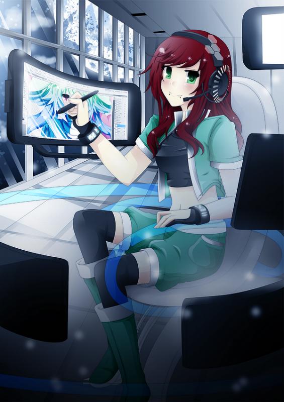 → Futuristic Girl !