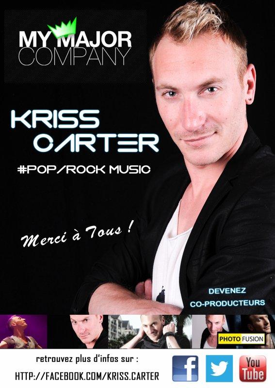 Devenez co-producteurs de Kriss Carter sur MyMajorCompany - 90jours pour Réussir !