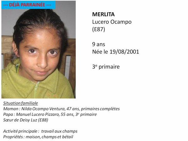 E87 Merlita