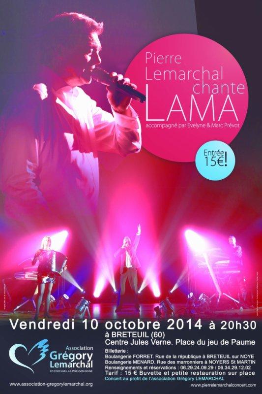 Concert Pierre Lemarchal chante Lama , accompagné de son orchestre Nuance