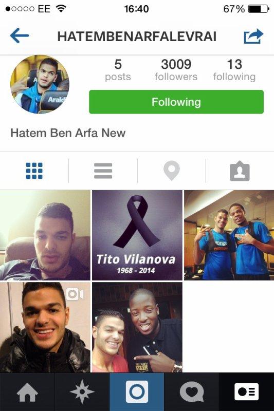 Hatem ben arfas official Instagram account