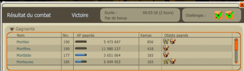 Un record d'xp en 3 minutes pour la team  ;)