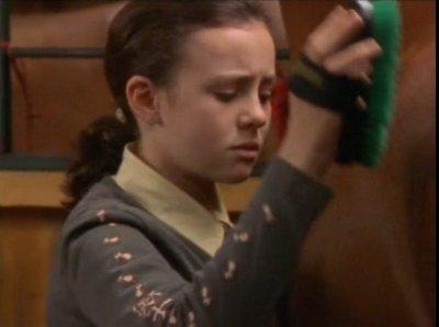 Lisa (Moi) qui brosse Prancer <3