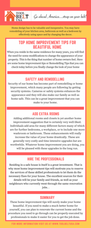 Home Improvement Tips By ToolBeltUSA