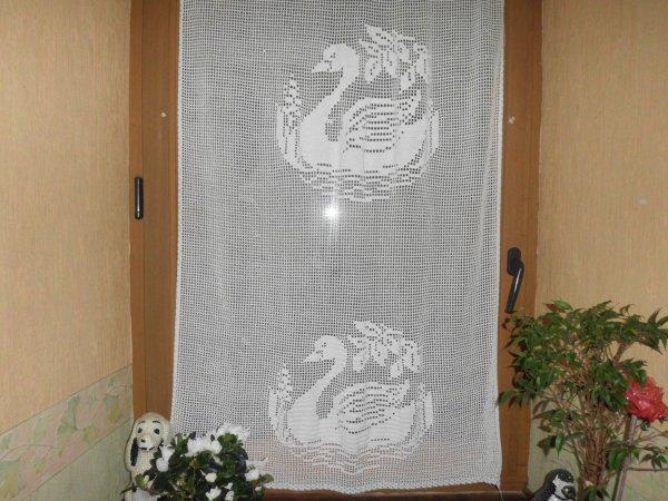 rideaux au crochet