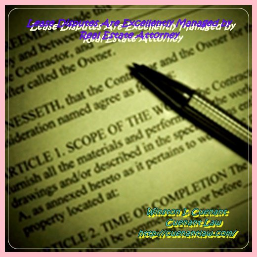 Lease Disputes Are Excellently Managed by Real Estate Attorney
